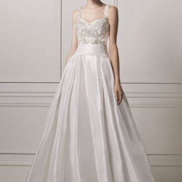 Oleg Cassini Sleeveless Tank Ball Wedding Dress - Davids Bridal