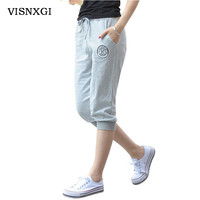 Summer Women Casual Harem Pants aptitud Skinny Pant Deportes Long Seven Short Capris Trouser K010