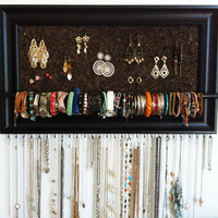 12x24 Black Framed Jewelry Organizer