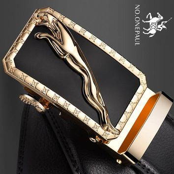 NO.ONEPAUL Fashion Designers luxury Belts Business Male Alloy buckle Belts for Men Ceinture Homme Men Automatic Buckle Leather
