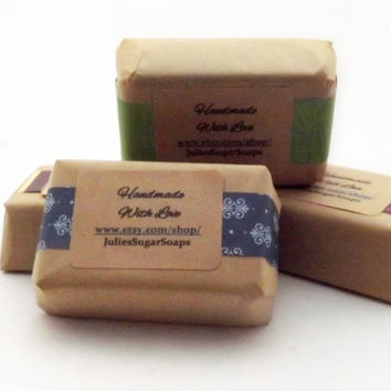 BULK 75 Guest Size Soaps for Wedding Favors, Sorority Gifts, or Bridal Showers; Natural Glycerin Soap, Personalized Custom Labels