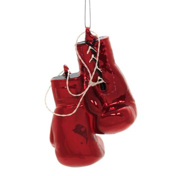 Noble Gems BOXING GLOVES Glass Ornament Sport Fight Knockout Nb1251