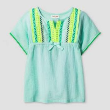 Baby Girls' Blouse Cat & Jack™- Aqua Float