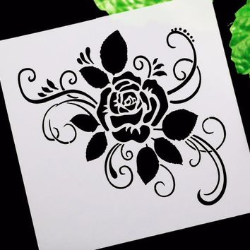 Rose flower DIY Craft Layering Stencils For Walls Scrapbooking Painting Template Stamps Album Decorative Embossing Paper Cards