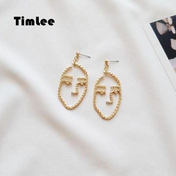 Timlee  E147 Cartoon Cute Retro mask modeling Face Drop  Earring Funny Jewelry