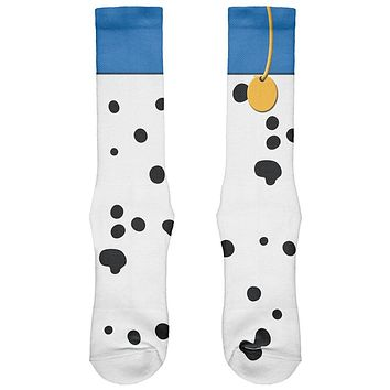 Halloween Dog Dalmatian Blue Collar Costume All Over Soft Socks