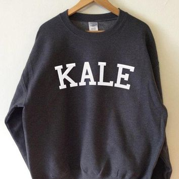 ESBCG8 KALE Fashion Casual Long Sleeve Sport Top Sweater Pullover Sweatshirt