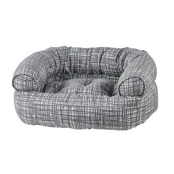 Jacquard Double Donut Bolstered Dog Bed — Tribeca