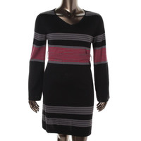 PrAna Womens Sydney Knit Striped Sweaterdress
