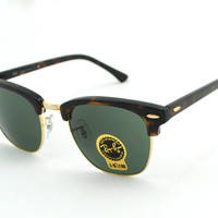 Ray ban Clubmaster RB3016 Sunglasses Tortoise New In Box