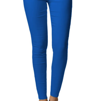 Royal Blue Colored Tight Jeggings