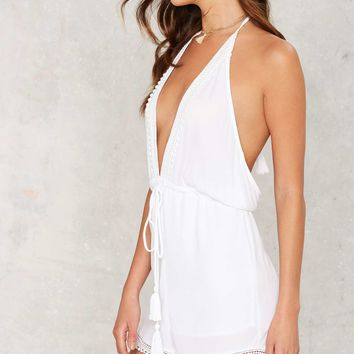 New Low Romper - White