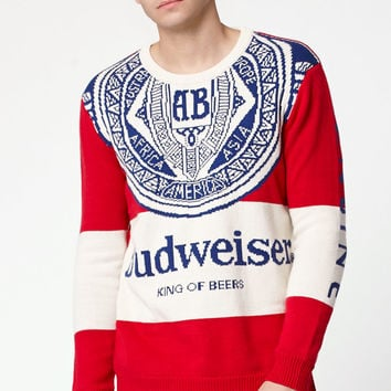 Junk Food Budweiser Sugar Crew Neck Sweater at PacSun.com