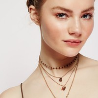 Free People Delicate Quad Tiered Necklace
