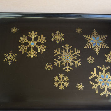 Tray Couroc of Monterey  Mid-Century Mad Men Atomic Era Design Snowflake Motif
