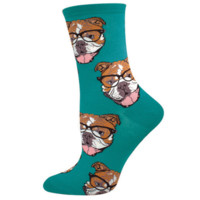 Hipster Bulldog Socks