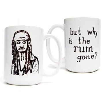 Pirates of the Caribbean- Captain Jack Sparrow - But Why is the Rum Gone? 15 oz. Mug