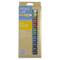 Artist's Loft™ Fundamentals™ Oil Paint Set, 12 Count