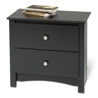 Edenvale 2-Drawer Nightstand, Black - Walmart.com