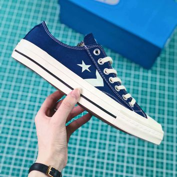 Converse Cx-pro Ox One Star Blue Canvas Shoes - Sale b5368f4b16