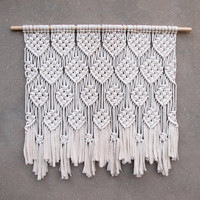 Large wall decor Bohemian wall hanging Large tapestry Macrame wall hanging Big wall art Bedroom wall decor Woven tapestry Macrame panel