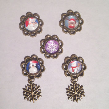 Snowflake Dangle Plugs 8g-00g