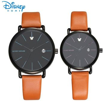 Disney Women Watches 2017 Brand Luxury Quartz Watch Man Mickey Mouse Fashion Casual Couple Watches For Lovers Mens Women Ladies