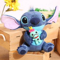 1pc 23cm Hot Sale Cute Cartoon Lilo and Stitch Plush Toy Soft Stuffed Animal