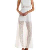 Cut-Out Lace Maxi Dress by Charlotte Russe