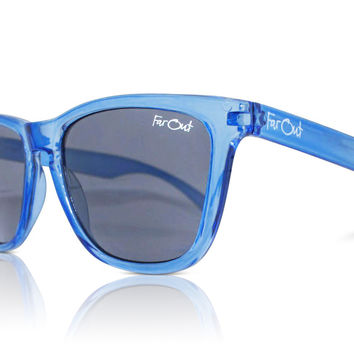 Crystal Blue Wayfarers Black Lens