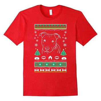 Pitbull Ugly sweater xmas tshirt gift woman men kids