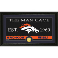 Denver Broncos The Man Cave Bronze Coin Panoramic Photo Mint