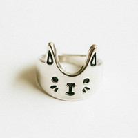 love cat ring,cat ring,cat ears ring,ears ring,kitten,kitty ring