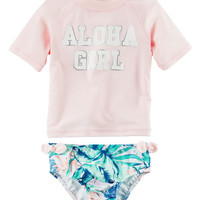 Carter's Aloha Girl Rashguard Set