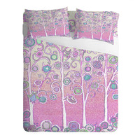 Renie Britenbucher Pink Owls Sheet Set