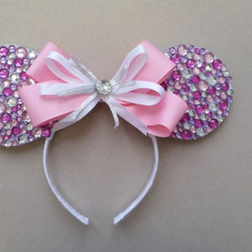 """Pink """"Diamond Collection"""" Mickey/ Minnie Mouse Ears"""