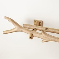 Curved Branch Curtain Rod by Anthropologie in Neutral Size: One Size Hardware