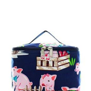 Pig Print Small Cosmetic Bag