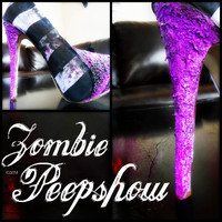"Striped ""Zombie Pinup"" Pumps"