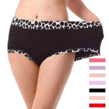 ESBONFI 2Pcs/lot Bamboo Stone Pattern Underwears Women Panties Plus Size 6XL Tall waist super-large Sexy lingeries women's briefs