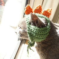 Hat for Cat CROCHET PATTERN Dinosaur hat Pet Hat Pet Supplies Halloween Costume for Cat Dino Hat Dinosaur Costume Cute Costume Cat in Hat