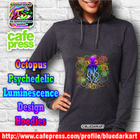 Octopus Psychedelic Luminescence hooded Tshirts SOLD!