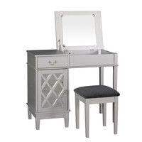 Wildon Home ® Lattice Vanity Set with Mirror