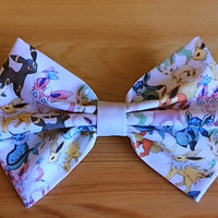 Eevee Evolutions Pokemon Inspired Hair Bow OR Bow Tie.
