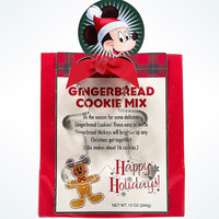 Disney Parks Holiday Mickey Gingerbread Cookie Mix & Cutter New