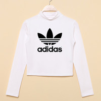 """Adidas"" Fashion Casual Classic  Letter Print Round Neck T-shirt Crop Top"