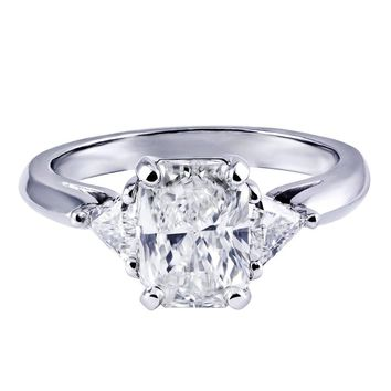 Radiant Cut GIA Certified Diamond Three-Stone Engagement Ring
