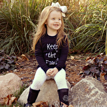 Keep the Faith Long Sleeve Tee (Toddler)