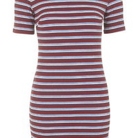 Striped Bodycon Dress - Multi