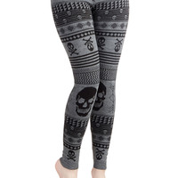 Snuggle after Skull Leggings | Mod Retro Vintage Pants | ModCloth.com
